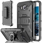Shockproof Rubber Hybrid Belt Clip Holster Case Cover For Samsung Galaxy J7 Neo