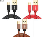 LEATHER FAST CHARGE 2.4A USB-C 3.1 Type C Charger Cable SAMSUNG GALAXY...