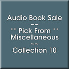 Audio Book Sale: Miscellaneous (10) - Pick what you want to save