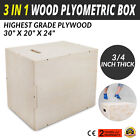 3 in 1 Wood Plyometric Box for Jump and Training Strength Plyo Exercise Fit Plyo