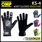 NEW! KK02744E OMP KS-4 KS4 KART GLOVES in 6 COLOURS UPDATED MODEL FOR KARTING