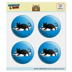 Black Cat Lying on Papers Puffy Bubble Dome Scrapbooking Crafting Sticker Set