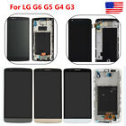 LCD Display Screen Touch Digitizer Frame Assembly Replacement for LG G6 G5 G4 G3