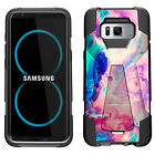 For Samsung Galaxy Note 8, Dual Layer Combat Kickstand Cover Shockproof Case