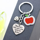 Red Apple Necklace Pendant Keyring Jewelry Charm Teacher Plant Seeds Grow Gift