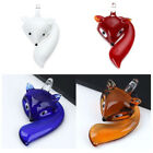 Lovely Fox Animal Lampwork Glass Charm Bead Jewelry For Pendant Necklace DIY 1Pc