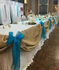 Hessian Table Swags
