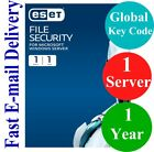 ESET File Security for Windows Server 1 Year (Unique Global Key Code) 2019
