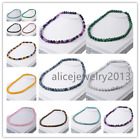 1/13 Strand Mixed Natural Gemstone Round Necklace 8mm Y016