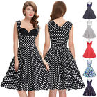 Vintage Retro 50s Floral Swing Pinup Evening Party Cocktail Homecoming Tea Dress
