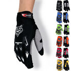 Racing Motorcycle Motorbike Motocross Cycling Dirt Bike Full Finger Gloves A02 D