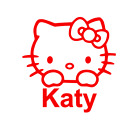 Hello Kitty Decal For Yeti, Car, Truck, Tumbler. Personalized With Name.