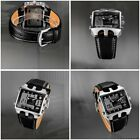 Men Needle buckle Fashion Casual Digital Leather Waterproof Sports Wrist Watch