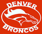"DENVER BRONCOS SILHOUETTE  VINYL Decals Sticker 10"" X 6""  BUY 2 GET 1 FREE $6.99 USD on eBay"