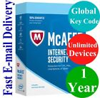 McAfee Internet Security Plus Unlimited Device / 1 Year (Global Key Code) 2019