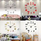 Huge Home Mirror Watch Large Wall Clock Surface Sticker Modern DIY Decorative