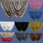 Crushed Velvet Beaded Voile Curtain Swags - Pelmet Valance Curtains Swag