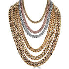 Men's Miami Cuban Link Chain Gold Plated Stainless Steel BEST QUALITY!