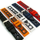 Silicone Grand Prix Racing Style Sports Watch Band 20mm 22mm 24mm C032
