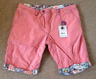 JET LAG Men's Reversible Shorts Boston Rose Multiple Sizes NWT