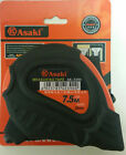 ASAKI 7.5m Tape Measure 25mm Wide Blade Shockproof Case 3 Easy Lock Buttons