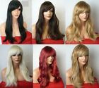 Fashion Women Long Black Blonde Brown Red Synthetic Heat OK Hair Wigs style C