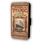 RETRO TITANIC POSTER FLIP STYLE PHONE CASE WITH CARD HOLDER