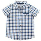 Mud Pie Easter Collection Gingham Plaid Short Sleeve Button-Down Boys Shirt
