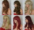 Fashion Women Long Highlight Blonde Brown Red Synthetic Heat OK Hair Wig style L