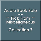 Audio Book Sale: Miscellaneous (7) - Pick what you want to save