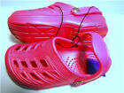 Girls Fuscia Pink Softee Clogs Youth Shoes Size 3 NEW