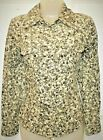 MARKS & SPENCER M&S BEIGE DITSY PRINT NEEDLECORD SHIRT BLOUSE SIZES 6 8 10 # TUB