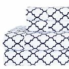 Printed Meridian Percale 100% Cotton Sheets