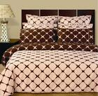 Blush & Chocolate Bloomingdale Multi - Piece Duvet Cover Set