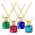 """Yellow Gold Plated Necklace Pendant Stone 16-24"""" Adjustable Size 1MM Slide B168 image"""