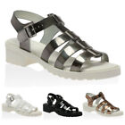 WOMENS BUCKLE T-BAR LADIES JELLIES CUT OUT BUCKLE STRAP SANDALS SHOES SIZE 3-8