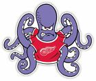 Detroit Red Wings Octopus Vinyl Sticker Decal Cornhole Truck Wall Bumper Car $4.29 USD on eBay
