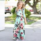 Kids Girl Long Sleeve Floral Maxi Boho Dress Infant Outfit Holiday Party Dresses