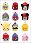 Baby Toddler Kid Cartoon Minions Totoro Batman Backpack  Schoolbag Shoulder Bag
