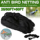 25'/50' Anti Bird Netting Pond Net Protect Tree Crops Plant Fruit Garden Mesh