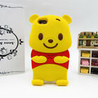 For iPhone 4 4S 5 5S Case Cover 3D Cute Cartoon Animals Soft Silicone Back Skin