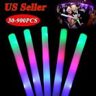 12-900PCS Light Up Foam Sticks LED Wands Rally Rave Batons DJ Flashing Glow Stic