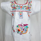 Embroidered Mexican White baby dress peasant dress handmade baby