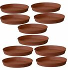 Plastic Planter Bottom Trays 10 Inch Plant Pot Tray Ghamle Ki Plate Pack of 50