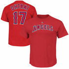 Shohei Ohtani Los Angeles Angels LA Majestic Authentic Mens Jersey T Shirt Red