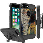 "For [iPhone 6, 7, 8 Plus (5.5"")] Hybrid Shock Heavy Duty Combo Holster Case Clip"