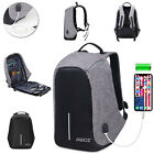 Anti Swiping Smart School College Travel Backpack Safe Bag USB Charging Laptop