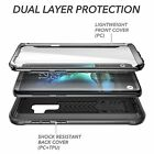 NEW Samsung Galaxy S9 Plus Heavy Duty Built-in Screen Protector Case Cover Black