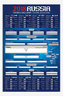 Russia 2018 Football World Cup Wall Chart Poster New - Maxi Size 36 x 24 Inch