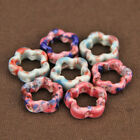 5pcs 15X5mm Flower Shape Ceramic Loose Spacer Beads DIY Jewelry Findings